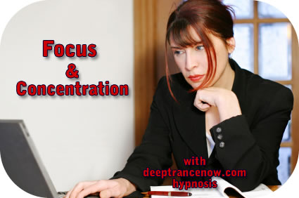Focus and Concentration with hypnosis