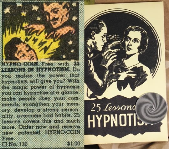 25 Lessons in Hypnotism Vintage Hypnosis Ad