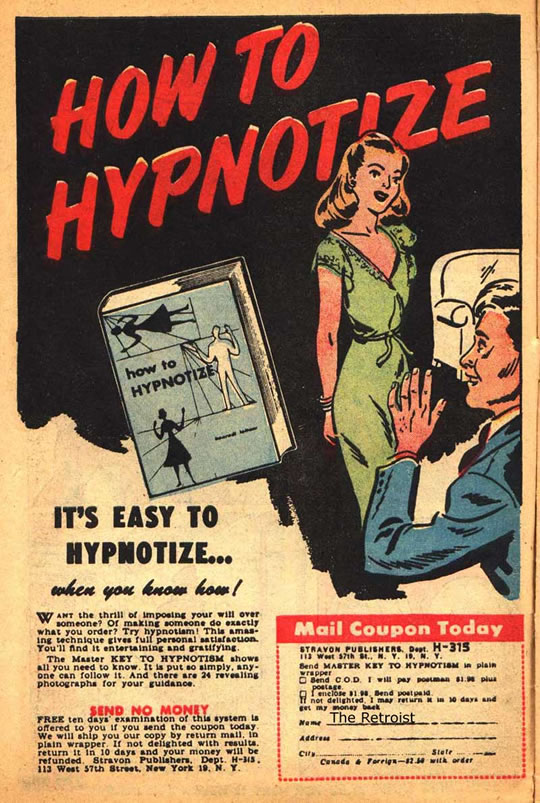 How to Hypnotize Vintage Hypnosis Ad
