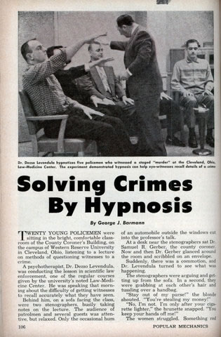 Hypnotic Vintage Ad Solving Crimes with Hypnosis