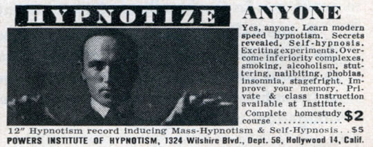 Hypnotize Anyone Hypnosis Vintage Ad