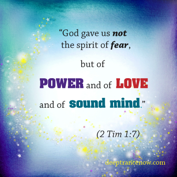 God gave us spirit of power and love