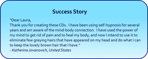 Restore Natural Color to Grey Hair Hypnosis CDs and mp3 Downloads - success story