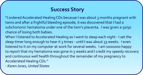 Healing Hypnosis CDs and mp3s - success story