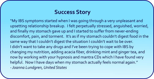 IBS Hypnosis CDs and mp3 downloads success story