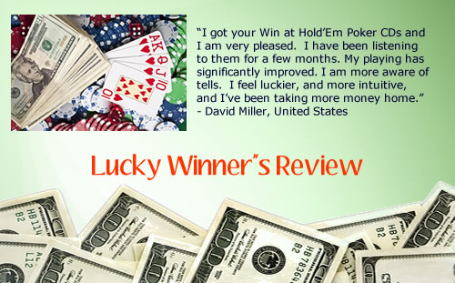 Win at Texas Holdem Poker hypnosis cds and mp3 downloads